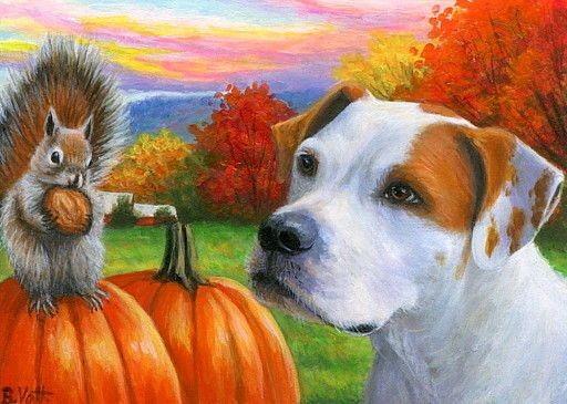 hond en eekhoorntje…