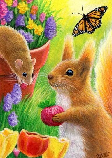 eekhoorn en muisje.…