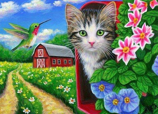 kitten in brievenbu…